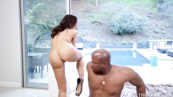 Interracial porn with horny busty MILF Lisa Ann