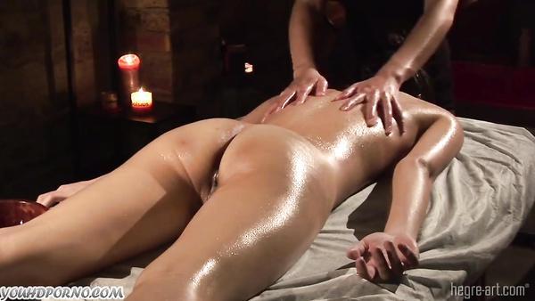 Women's hands do wonders on an intimate massage