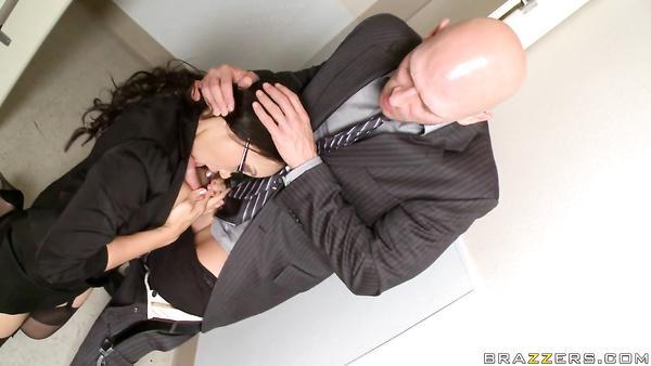 Strict Asian boss Katsuni dominates her employee